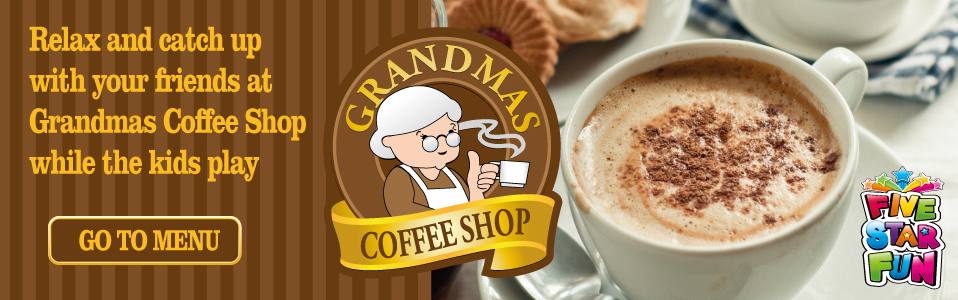 Relax and catch up with your friends at Grandmas Coffee Shop while the kids play